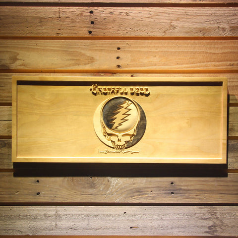 Grateful Dead Wooden Sign - Small - SafeSpecial