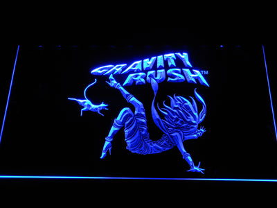 Gravity Rush LED Neon Sign - Blue - SafeSpecial