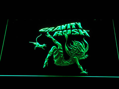 Gravity Rush LED Neon Sign - Green - SafeSpecial