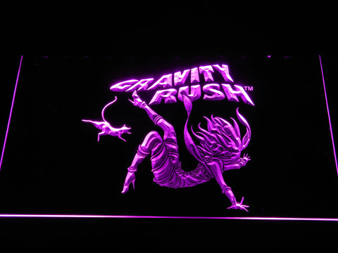 Image of Gravity Rush LED Neon Sign - Purple - SafeSpecial