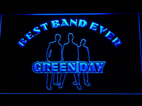 Green Day Silhouette Best Band Ever LED Neon Sign - Blue - SafeSpecial