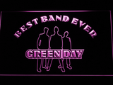 Green Day Silhouette Best Band Ever LED Neon Sign - Purple - SafeSpecial