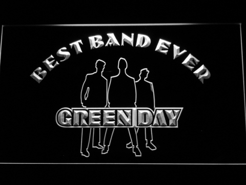 Green Day Silhouette Best Band Ever LED Neon Sign - White - SafeSpecial