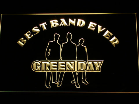 Green Day Silhouette Best Band Ever LED Neon Sign - Yellow - SafeSpecial