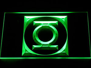 Green Latern Icon LED Neon Sign - Green - SafeSpecial