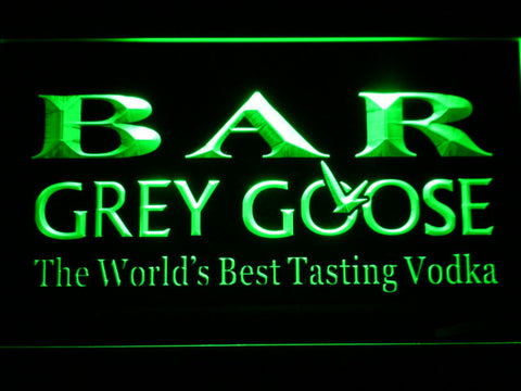 Image of Grey Goose Bar LED Neon Sign - Green - SafeSpecial