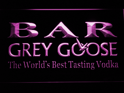 Grey Goose Bar LED Neon Sign - Purple - SafeSpecial