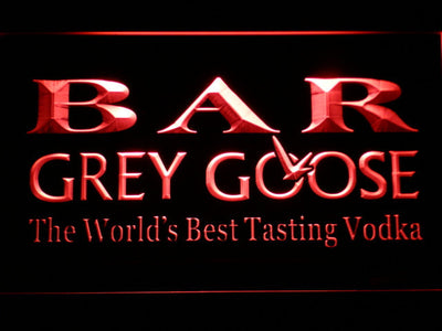Grey Goose Bar LED Neon Sign - Red - SafeSpecial
