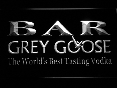 Grey Goose Bar LED Neon Sign - White - SafeSpecial