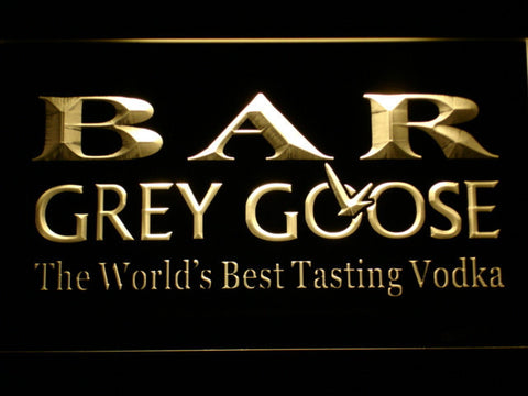 Image of Grey Goose Bar LED Neon Sign - Yellow - SafeSpecial