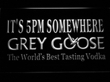 Grey Goose It's 5pm Somewhere LED Neon Sign - White - SafeSpecial