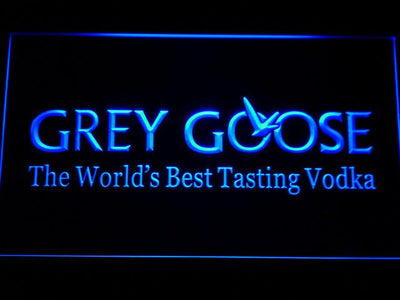 Grey Goose LED Neon Sign - Blue - SafeSpecial