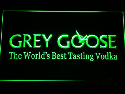 Grey Goose LED Neon Sign - Green - SafeSpecial