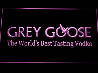 Grey Goose LED Neon Sign - Purple - SafeSpecial