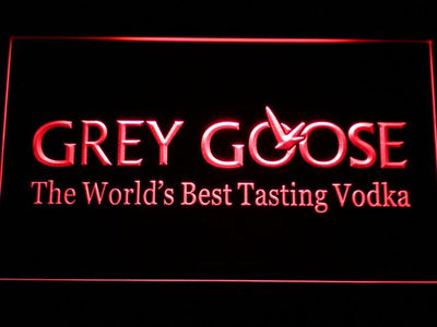Grey Goose LED Neon Sign - Red - SafeSpecial