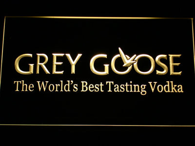Grey Goose LED Neon Sign - Yellow - SafeSpecial
