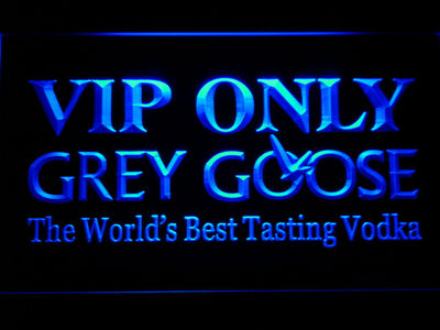 Grey Goose VIP Only LED Neon Sign - Blue - SafeSpecial