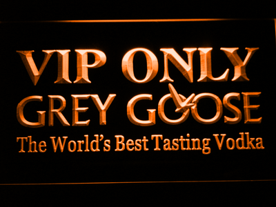 Grey Goose VIP Only LED Neon Sign - Orange - SafeSpecial