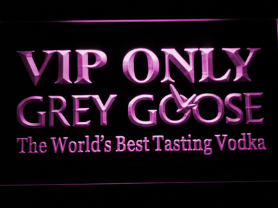 Grey Goose VIP Only LED Neon Sign - Purple - SafeSpecial