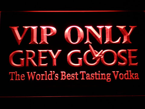 Image of Grey Goose VIP Only LED Neon Sign - Red - SafeSpecial
