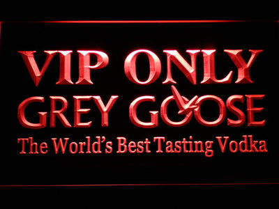 Grey Goose VIP Only LED Neon Sign - Red - SafeSpecial