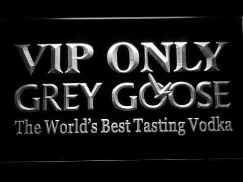 Image of Grey Goose VIP Only LED Neon Sign - White - SafeSpecial