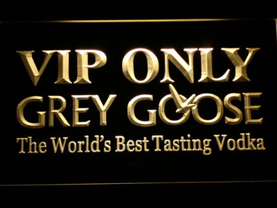 Grey Goose VIP Only LED Neon Sign - Yellow - SafeSpecial
