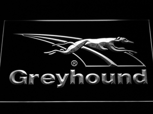 Greyhound LED Neon Sign - White - SafeSpecial