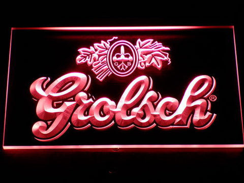 Grolsch LED Neon Sign - Red - SafeSpecial