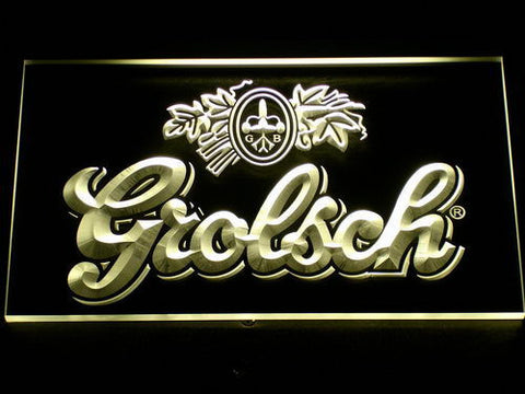 Grolsch LED Neon Sign - Yellow - SafeSpecial