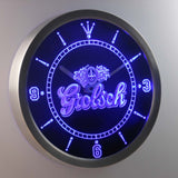 Grolsch LED Neon Wall Clock - Blue - SafeSpecial