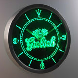 Grolsch LED Neon Wall Clock - Green - SafeSpecial