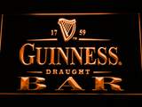Guinness Draught Bar LED Neon Sign - Orange - SafeSpecial