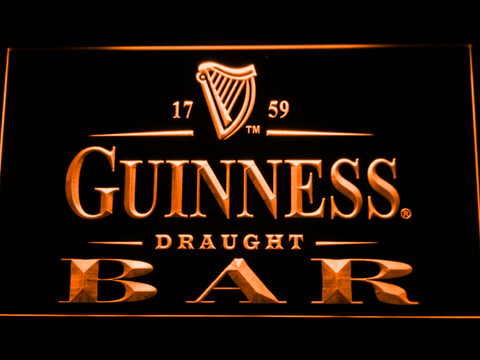 Image of Guinness Draught Bar LED Neon Sign - Orange - SafeSpecial