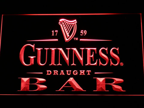 Image of Guinness Draught Bar LED Neon Sign - Red - SafeSpecial