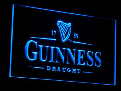 Guinness Draught LED Neon Sign - Blue - SafeSpecial
