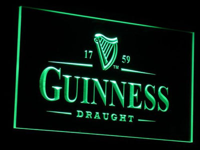 Guinness Draught LED Neon Sign - Green - SafeSpecial