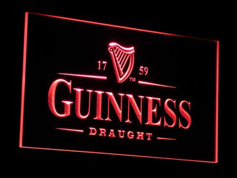 Image of Guinness Draught LED Neon Sign - Red - SafeSpecial
