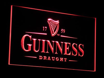 Guinness Draught LED Neon Sign - Red - SafeSpecial