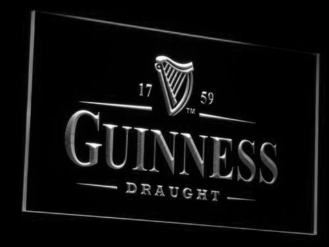 Image of Guinness Draught LED Neon Sign - White - SafeSpecial