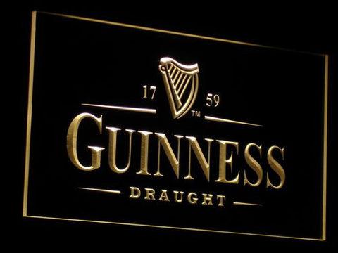 Image of Guinness Draught LED Neon Sign - Yellow - SafeSpecial