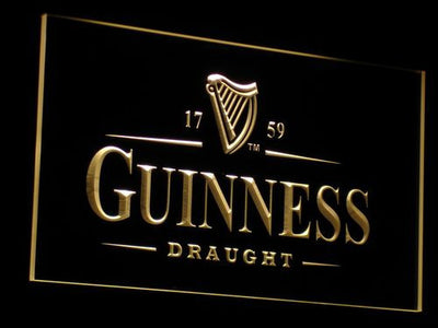 Guinness Draught LED Neon Sign - Yellow - SafeSpecial