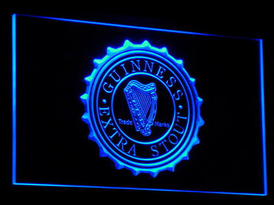 Guinness Extra Stout LED Neon Sign - Blue - SafeSpecial