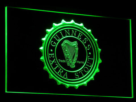 Image of Guinness Extra Stout LED Neon Sign - Green - SafeSpecial