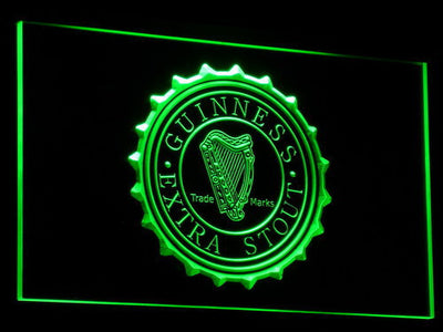 Guinness Extra Stout LED Neon Sign - Green - SafeSpecial