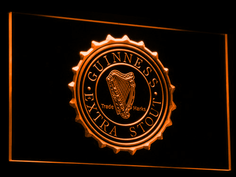 Image of Guinness Extra Stout LED Neon Sign - Orange - SafeSpecial