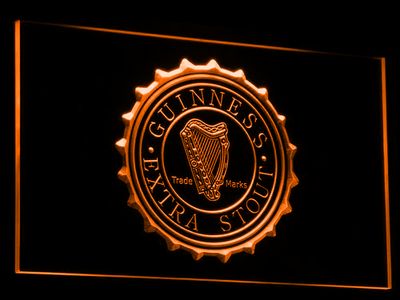 Guinness Extra Stout LED Neon Sign - Orange - SafeSpecial