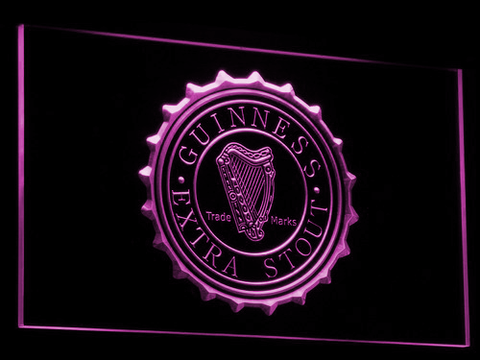 Image of Guinness Extra Stout LED Neon Sign - Purple - SafeSpecial