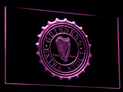 Guinness Extra Stout LED Neon Sign - Purple - SafeSpecial