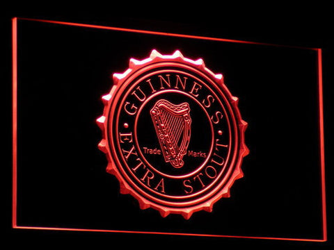 Image of Guinness Extra Stout LED Neon Sign - Red - SafeSpecial